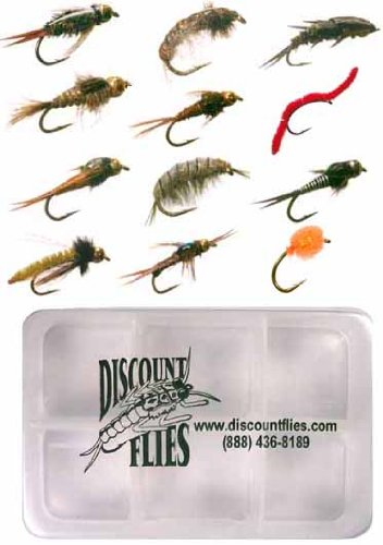 - 12 Trout Flies + Fly Box ()