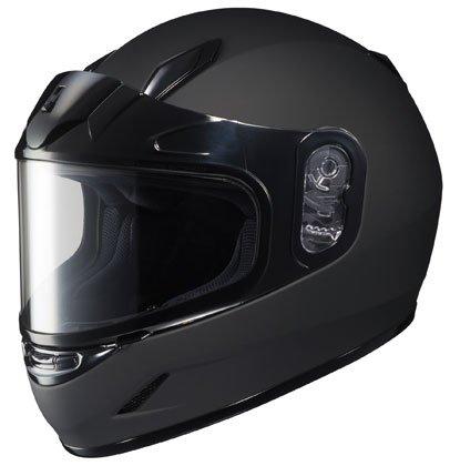 - HJC CL-YSN Full Face Youth Snow Helmet Framed Dual Lens Shield (Matte Black, Large)