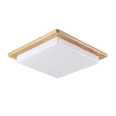 Amazon.com: Lámpara de techo cuadrada de 12 W de madera para ...