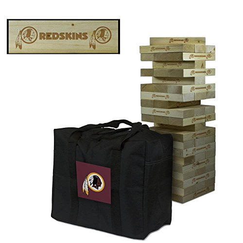 NFL Washington Redskins Washington Football Wooden Tumble Tower Game, Multicolor, One Size by Victory Tailgate