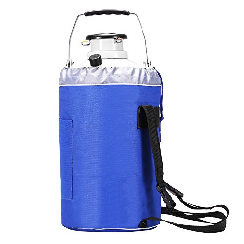 BestEquip Liquid Nitrogen Container Aluminum Alloy Liquid Nitrogen Tank Cryogenic Container with 3 Canisters and Carry Bag (3L) by BestEquip (Image #9)