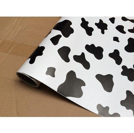 REAGONE PVC adhesiva de papel tapiz, papel tapiz, embalaje, etc. Etiquetas adhesivas pegadas I.E. Rollo de 10 m, Vaca, Gran Patrón