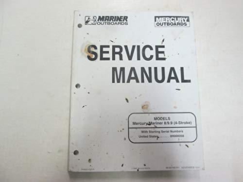 1996 Mercury Mariner Models 8 9.9 4 Stroke Service Repair Shop Manual OEM ***