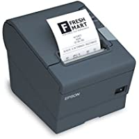 Epson C31CD52A9992 TM-T20II POS Thermal Receipt Printer USBEthernet Power Supply CAT5 Cable Dark Gray