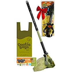 GoGo Stik Totally Clean Standard ST Pooper Scooper. You and Tool Stay Clean! 25 to 36 inch adj. Handle. Use with Optional EZ Wedge (rake Substitute). Use Plastic Store Bags Dootie Bags.