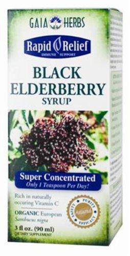 Gaia Herbs sirop sureau noir, 3-once bouteille