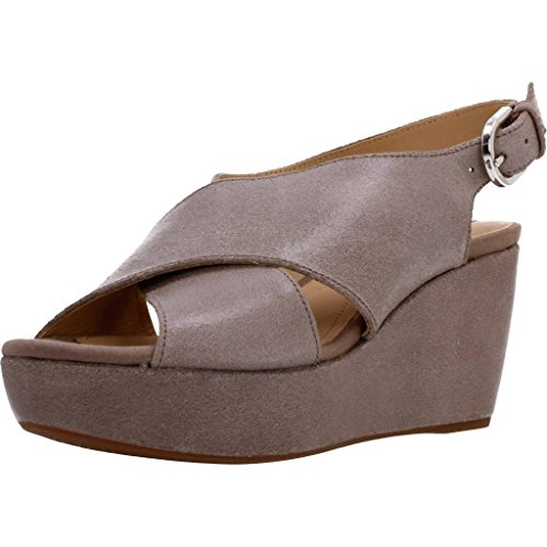 GEOX Sandals and slippers for women, colour Brown, brand, model Sandals And Slippers For Women D Thelma Brown Brown