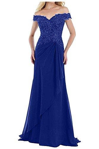 Abendkleider La Fesltichkleider Etuikleider Promkleider Ballkleider Braut Herrlich Royal mia Kurzarm Spitze Brautmutterkleider Blau Braun xrrqYawP6