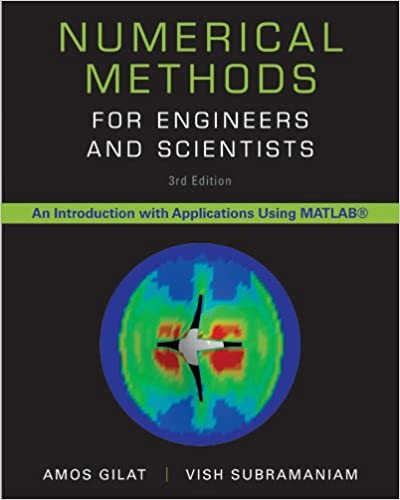 Numerical Methods for Engineers and Scientists 3rd Edition by Amos Gilat , Vish Subramaniam  PDF Download