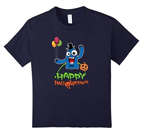 Nice Costumes Ideas (Kids Happy Halloween Monster T-Shirts - Halloween Costume Ideas 12 Navy)