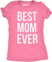 Womens Best Mom Ever T shirt Funny Ladies Mothers Day Tees for Moms (Pink) M