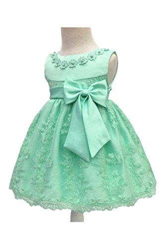 H.X Baby Girl's Newborn Bowknot Gauze Christening Baptism Dress Infant Flower Girls Wedding Dresses 8 Color (3M/0-5 Months, Light Green) -