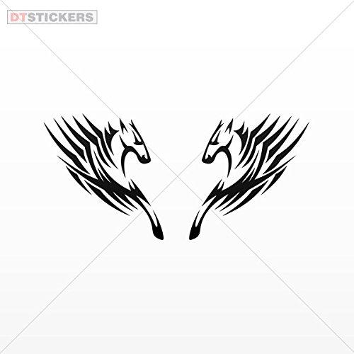 馬の速度のビニールステッカーデカールペアRacingガレージホームウィンドウd217 2 avr8 16 In. ブラック DT17V210681602 B06X9S7KDP   16 In.