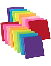 ZCZN 8 Bright Color Sticky Notes, 3 x 3 in, 16 Pads/Pack, 100 Sheets/Pad Self-Sticky Note