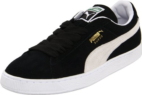 PUMA Suede Classic Sneaker,Black/White,13 M US - Shoes Puma Tennis