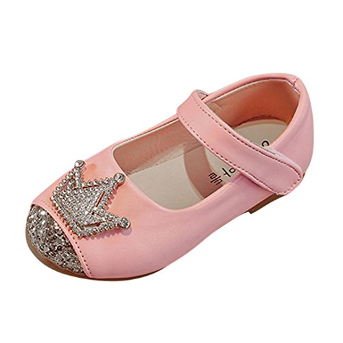 Enjocho Girl Shoes, Toddler Kids Baby Girl Crystal Princess Sandals Fashion Single Shoes (Age:2-3T, (Crystal Footwear)
