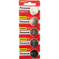 Panasonic CR2025 3V Lithium Battery 1PACK X (5PCS) =5 Single Use Batteries