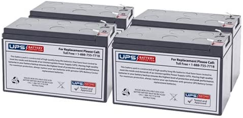 12V 9Ah F2 Compatible Replacement for Tripp Lite RBC94-3U Battery Set by UPSBatteryCenter Set of 4