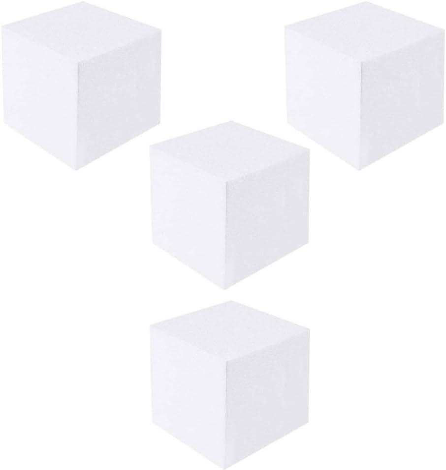 Healifty 6PCS Craft Foam Cube Square Foam Block Polystyrene Foam Brick for Sculpture Cake Modeling DIY Arts Crafts-6inch