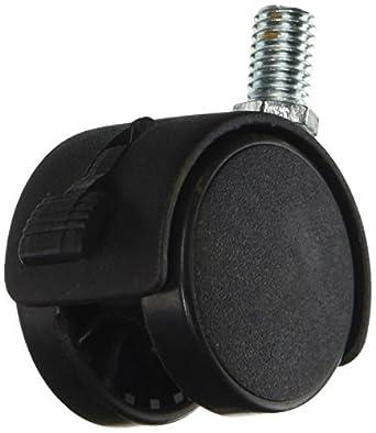 eDealMax 10mm de rosca Conector Doble rueda giratoria Freno Caster, 1.5, Negro: Amazon.com: Industrial & Scientific