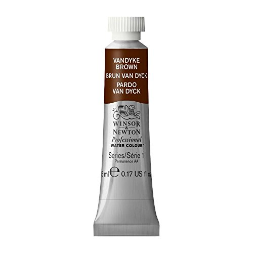 (Winsor & Newton Professional Water Colour Paint, 5ml tube, Vandyke Brown )
