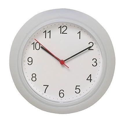 Ikea – Reloj de pared rusch Reloj de cocina con 25 cm Diámetro – Color Blanco