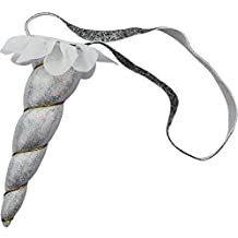 Play Tailor 15cm Unicorn Horn Headband Shiny Elastic Hairband for Kids and Adults (Bright Silver)