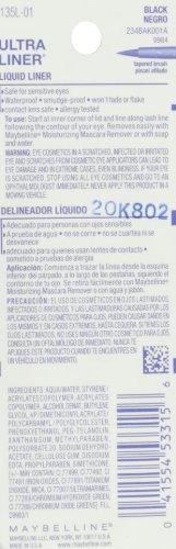 Maybelline New York Ultra-Liner Liquid Liner, Waterproof, Black 135L-01 , 0.25 fl oz (7.3 ml)