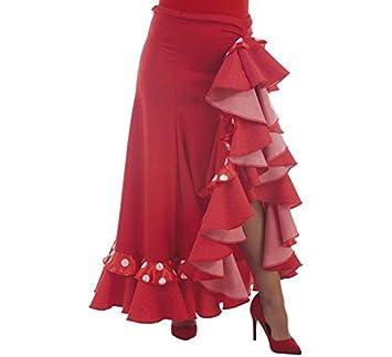 Disfraces Llopis Falda Sevillana Roja con Topos: Amazon.es ...