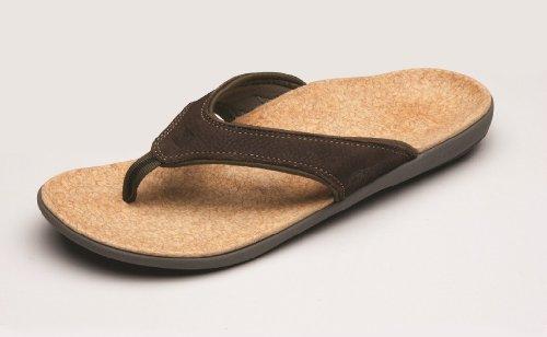 Spenco Men's Yumi Leather Sandal, Black 13M Medium US by Spenco (Image #5)