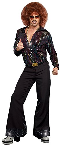 Adult Dreamgirls Costumes (Dreamgirl Men's Disco Dude Costume, Multi-Colored, Large)