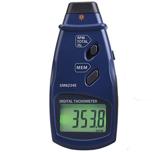 デジタルメーター デジタルタコメーター 3in1 デジタル回転計 ポータブル プロフェッショナル フォトタコメーター 広い測定範囲 2.5〜99999RPM 0.05〜1666Hz / 1〜99999 SM6234E 高精度テスター