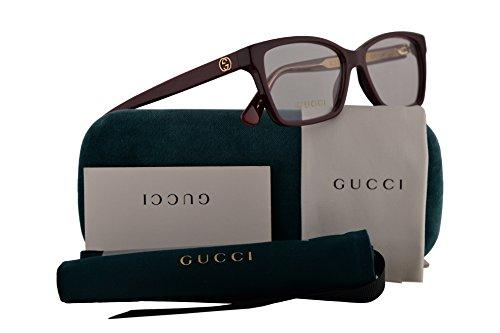 1c2f119a6c4bf Gucci GG0312O Eyeglasses 52-14-140 Burgundy w Demo Clear Lens 003 GG 0312O