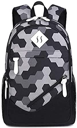 Student Honeycomb Oxford Backpack Foreign Trade Bag Female Print Backpack