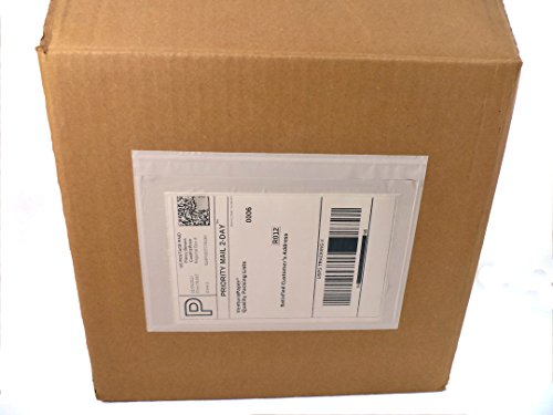 Ventura Paper Clear Adhesive Top Loading Packing List Envelopes 7.5'' x 5.5'' 2 Mil Shipping Label Envelopes Pouches (100 Pk) by Ventura Paper