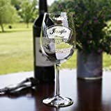 Engraved Bridesmaid, Bridal Party Wine Glass Gift Ideas, Set of 7 Review