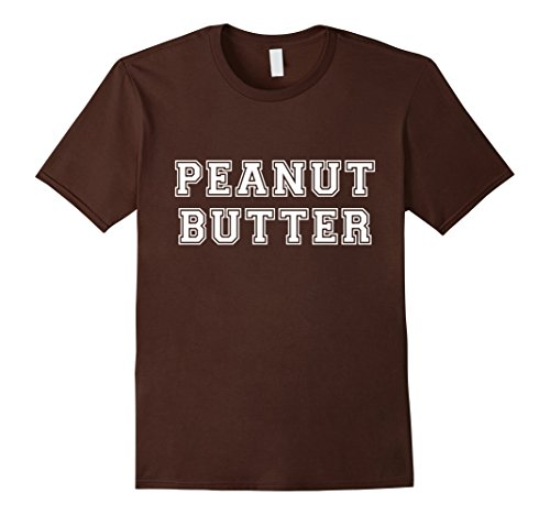 Mens Peanut Butter & Jelly Couples Friends His Hers Costume Shirt 2XL Brown (Bff Halloween Costume)