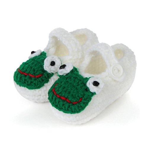 - Valuable Newborn Sandals,FuzzyGreen White Cute Fog Unisex Baby Newborn Infant Knitting Shower Crochet Prewalker Toddler Shoes Floor Socks Sandals