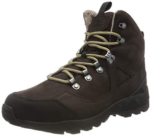 Zapatos de montaña Jack Wolfskin para hombre, marrón oscuro, negro, 13
