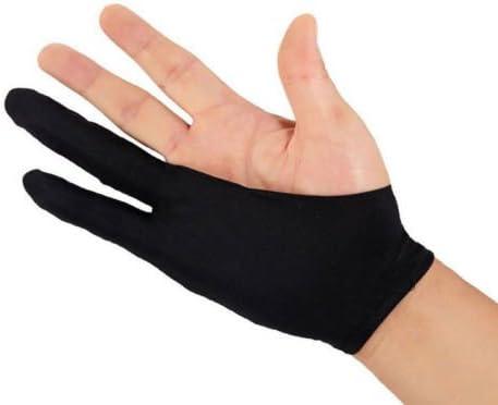 二本指 グローブ 2本指の手袋、絵画、行方不明、磨耗防止、汚れ防止、スケッチ、特殊2本指グローブ、ユニセックス 左利き右利き 通用 フリーサイズ (ブラック)