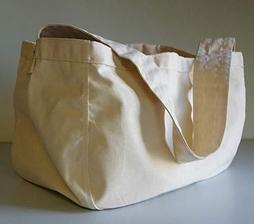 Canvas Shoulder Carrier Bag - Large