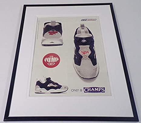 37967675b5699 2001 Reebok Pump Champs Sports Framed 11x14 ORIGINAL Advertisement at  Amazon s Sports Collectibles Store