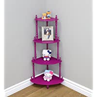 Frenchi Home Furnishing Kids 4-Tier Shelves, Purple