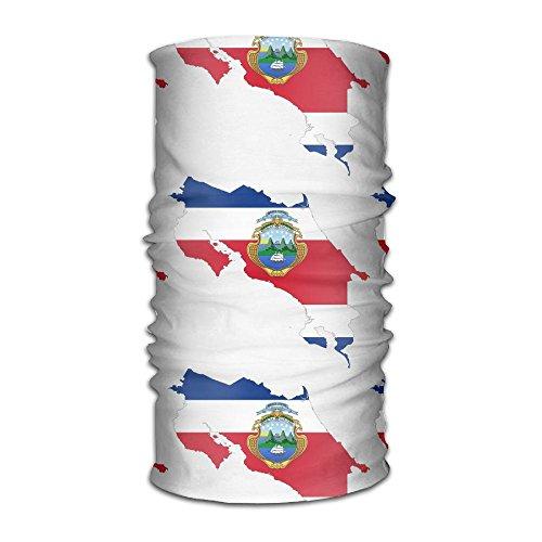 Costa Rica Map Grandeur Fulgurant Flag Headband Bandana,Outdoor Multifunctional Headwear,Magic Scarf For Men Women - Masks Costa Rica