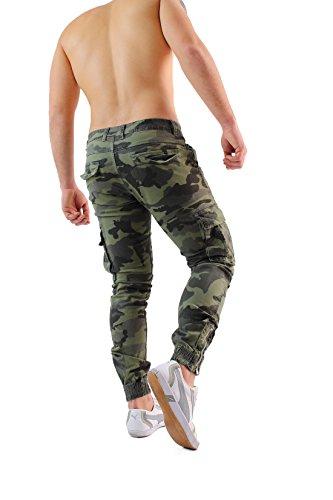 Mimetici Verde Cotone Tasconi Montagna In Laterali Slim Da Fit Con Militari Uso Tasche Libero Casual Cargo Tattici Viaggio Esercito Trekking Per Pantaloni Uomo Tempo 6gIfwqqp