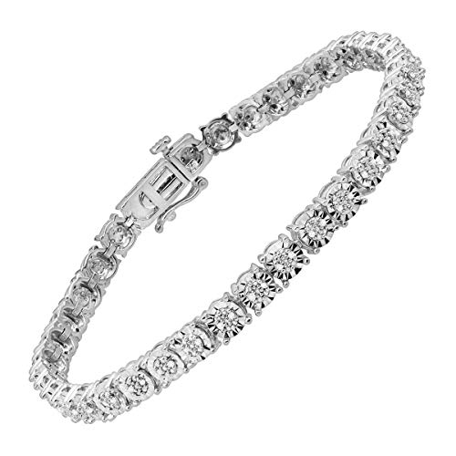 1/4 ct Diamond Tennis Bracelet in Sterling Silver ()