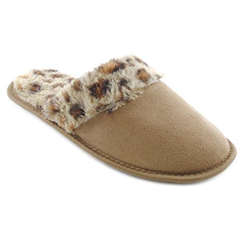 SlumberzzZ - Zapatillas de estar por casa para mujer Beige - beige