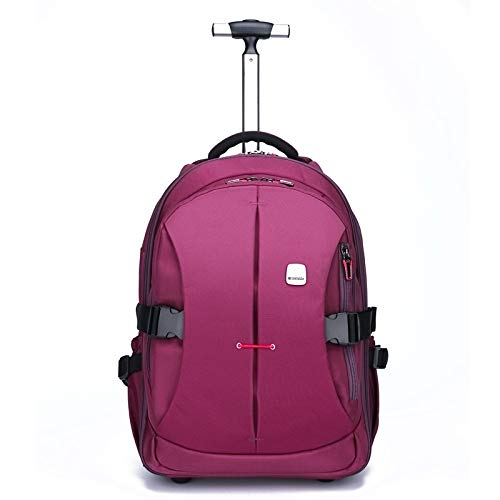 19 inches Laptop Travel Rolling Backpack Waterproof Wheeled,Purple