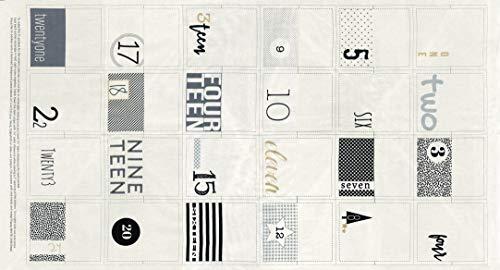 White Christmas Fabric Advent Calendar