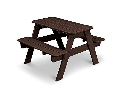 POLYWOOD KT130MA Kids Picnic Table, Mahogany (Benches With Table Polywood Picnic)